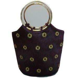 Vintage Adrienne Vittadini Pony/Cow Hair Handbag